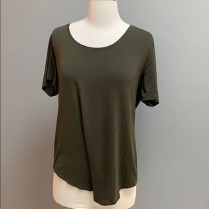 Luxe Army Green Tee